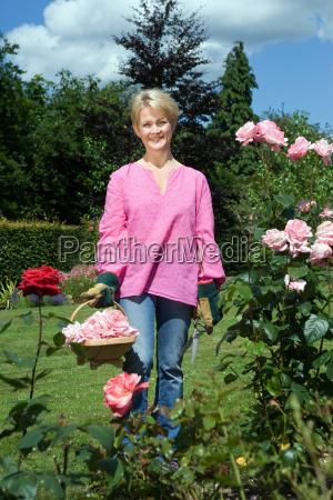 portrait of women gardener