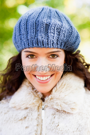 young woman with cap portrait