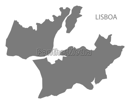 lisboa portugal map grey