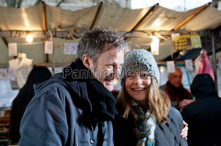 couple at outdoor market