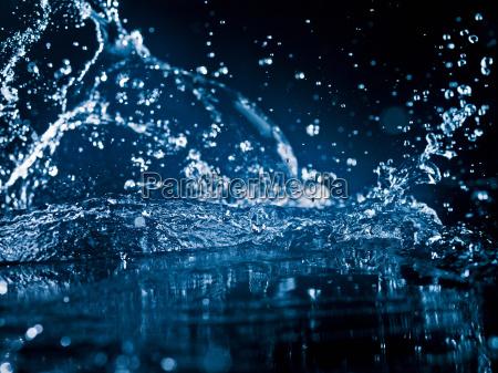 close up of splashing water