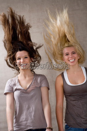 teen girls laughing together