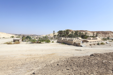 ecological buildings around an oasis negev