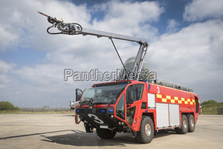 specialist airport fire engine at training