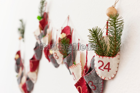 close up of advent calendar on