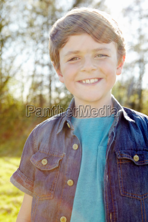 boy with toothy smile