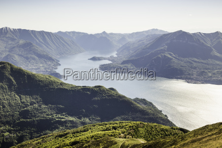 scenic view with mountains lake como