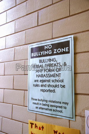 sign posted on campus of primary
