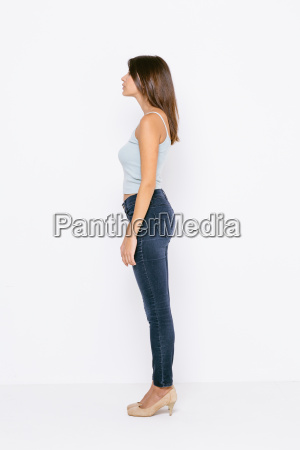 full length side view of young