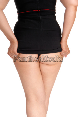woman showing her buttock