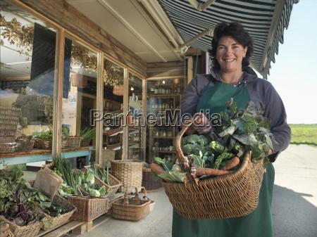 portrait of female organic farmer with