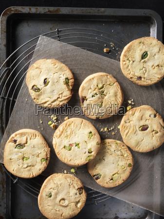 overhead view of crunchy pistachio