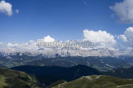 mountain landscape and blue sky brixen
