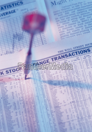 dart in a financial newspaper