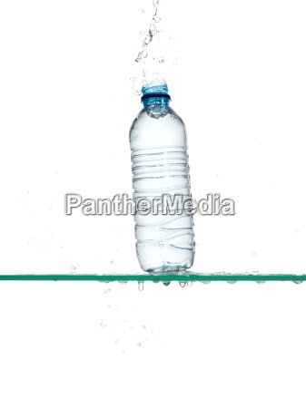 bottle of water being dropped