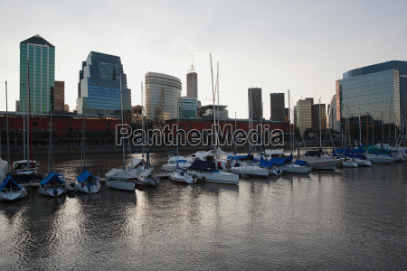 boats moored in puerto madero
