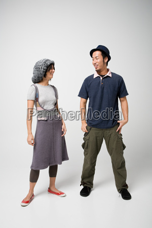 smiling young japanese couple