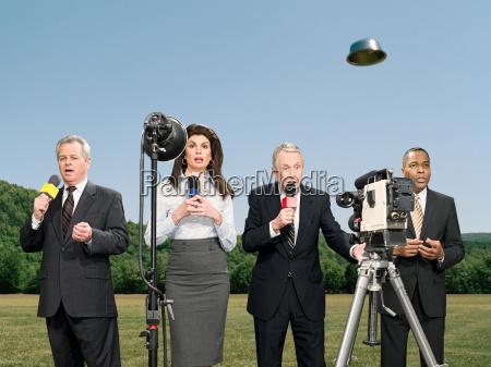 news presenters and ufo