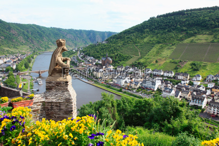 a view over german towns and