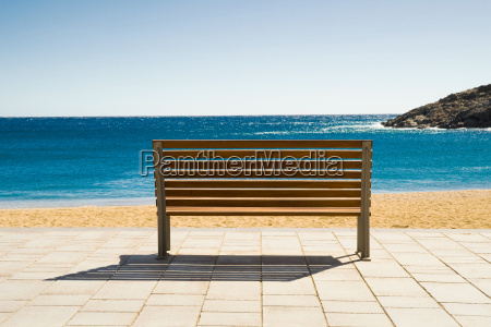 empty bench tamariu costa brava catalonia