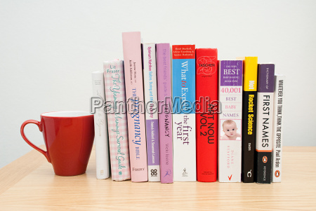 mug and parenting books