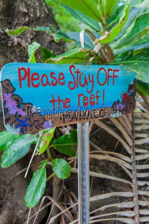 hand painted warning notice kauai hawaii