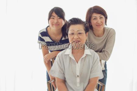three female relatives portrait