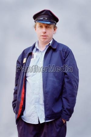 male postal worker