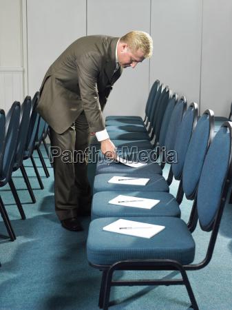 businessman preparing for a meeting
