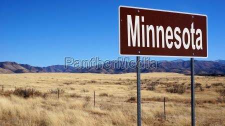 minnesota brown road sign