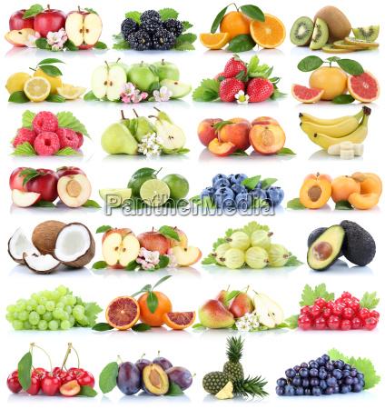 fruits fruit collage apple orange banana