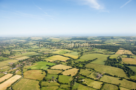 aerial view of sussex fields