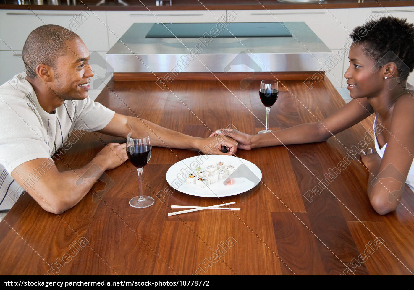 couple, sitting, at, dining, table - 18778772