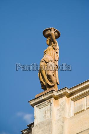 baroque statue in brasov