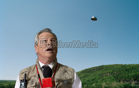 news presenter and ufo