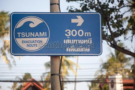 tsunami evacuation sign in phuket