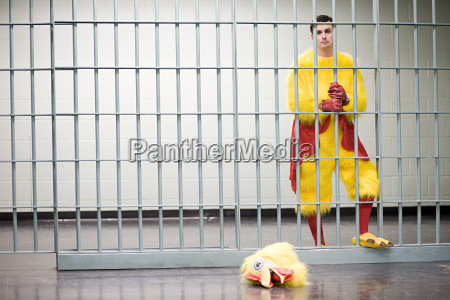 prisoner in chicken suit