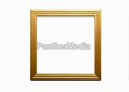 empty gold frame