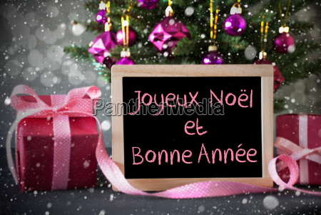 tree with gifts snowflakes bokeh bonne
