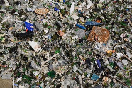 broken glass and other debris at