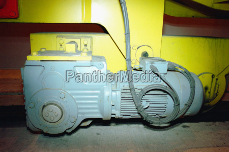 electric motor on the base of