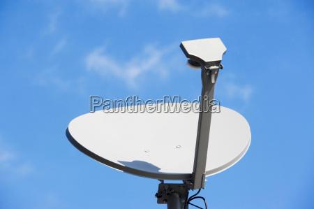 satellite dish and blue sky