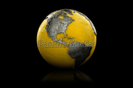 yellow and black globe north and
