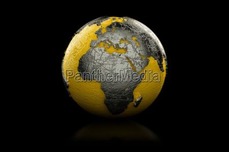 yellow and black globe europe and