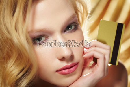 close up portrait of young woman