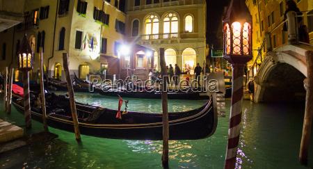 gondolas on the canal venice italy