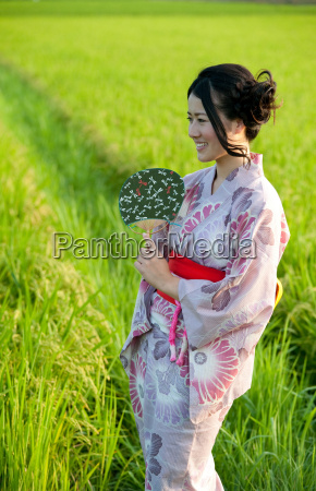 portrait of young japanese woman in