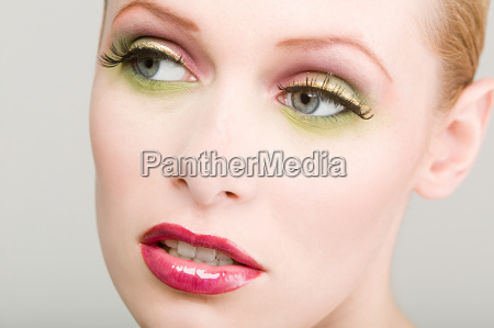 young woman wearing make up