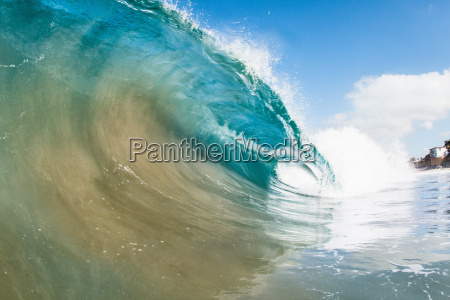 rolling ocean wave encinitas california usa