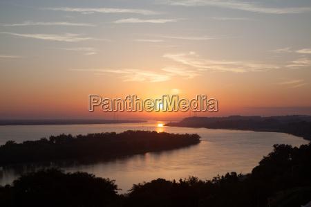 sunset over river santa fe argentina